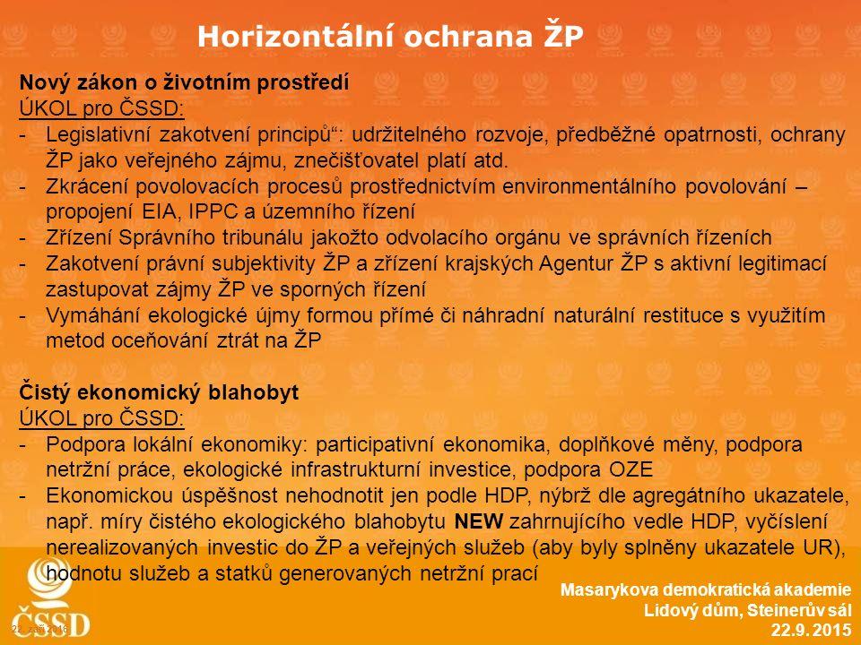 Horizontální ochrana ŽP 22.