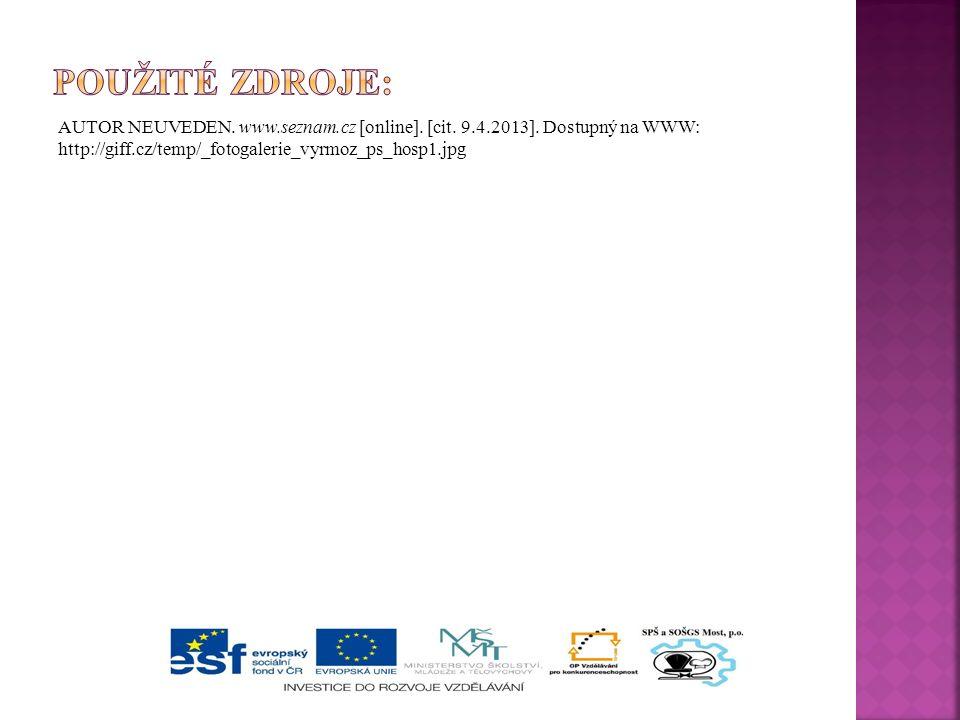 AUTOR NEUVEDEN. www.seznam.cz [online]. [cit. 9.4.2013].