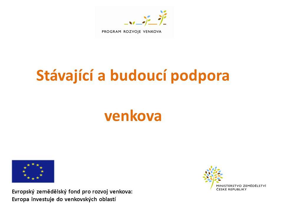 Evropský zemědělský fond pro rozvoj venkova: Evropa investuje do venkovských oblastí Stávající a budoucí podpora venkova