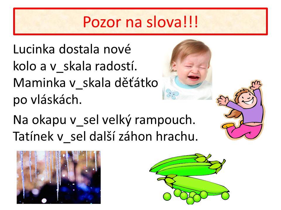 Pozor na slova!!. Lucinka dostala nové kolo a v_skala radostí.