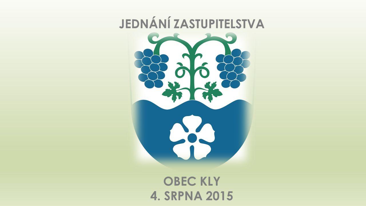 Jednání zastupitelstva obce Kly 4.8.2015 12  Poz. p.č. 80/61