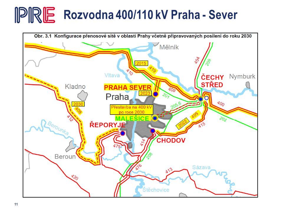 Rozvodna 400/110 kV Praha - Sever 11