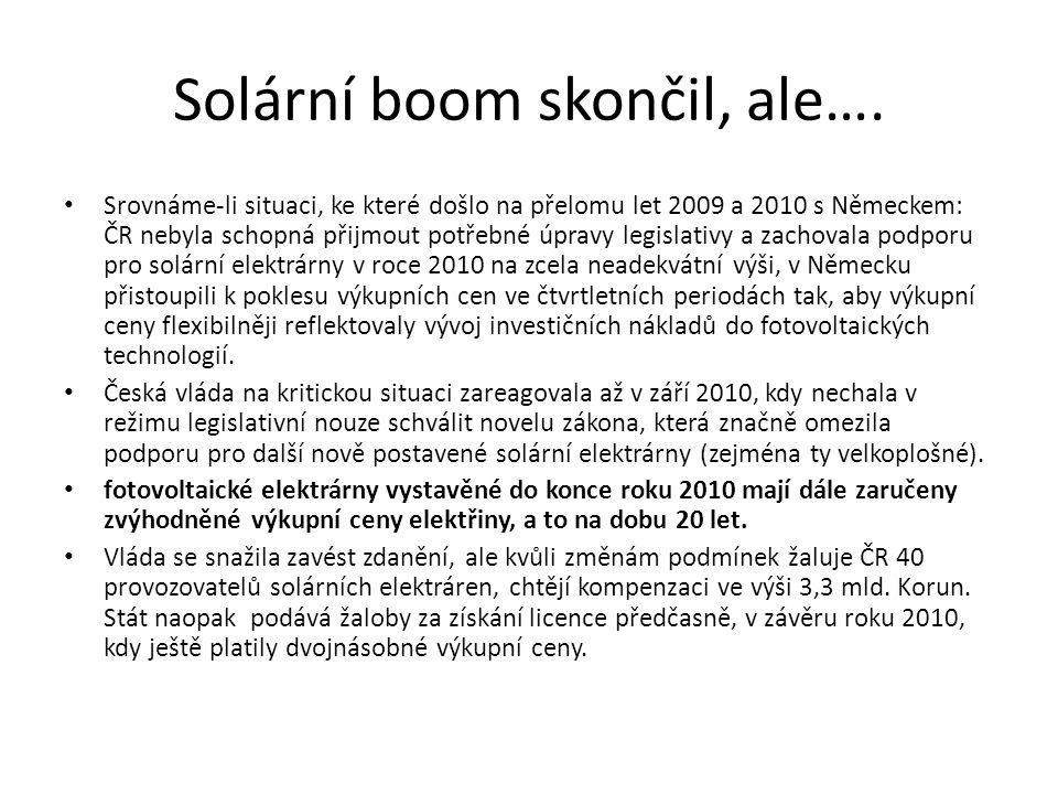 Solární boom skončil, ale….