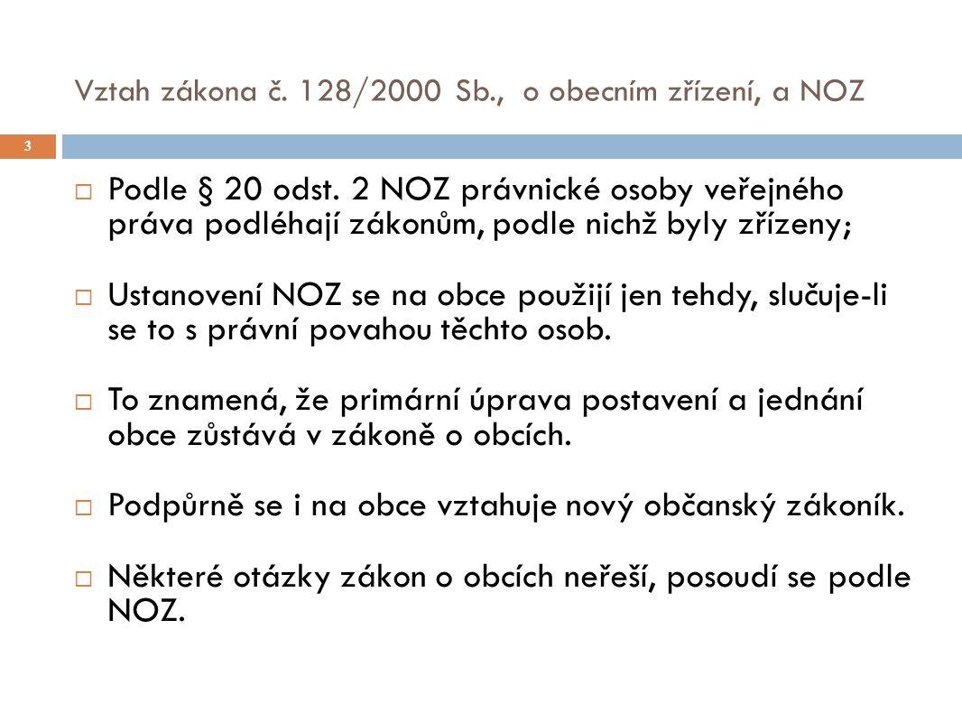Vztah zákona č. 128/2000 Sb., o obecním zřízení, a NOZ 3  Podle § 20 odst.