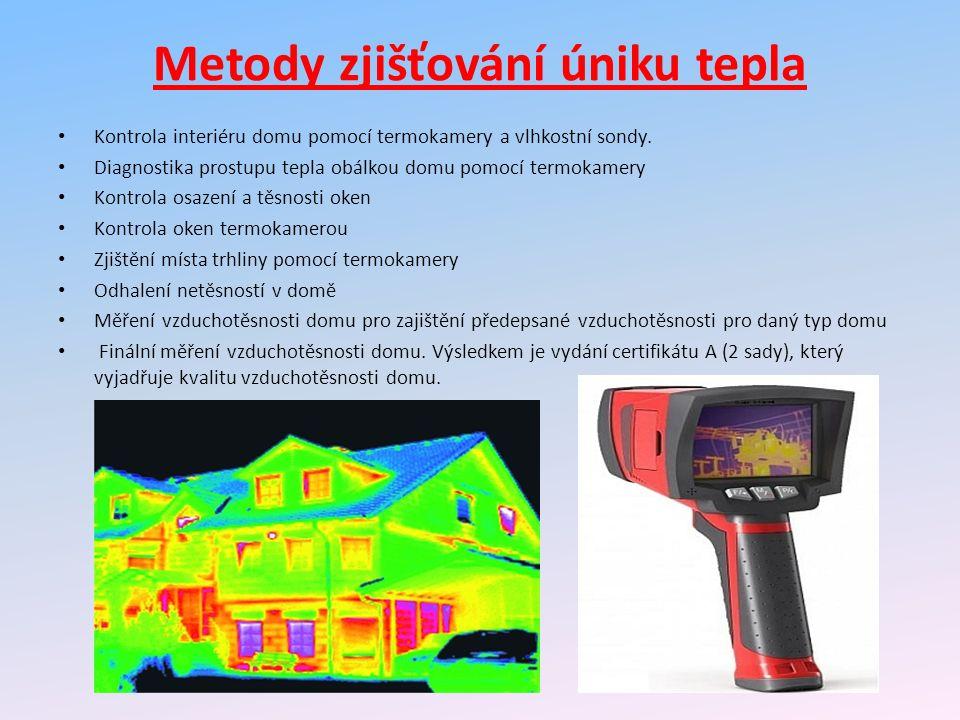 Metody zjišťování úniku tepla Kontrola interiéru domu pomocí termokamery a vlhkostní sondy.