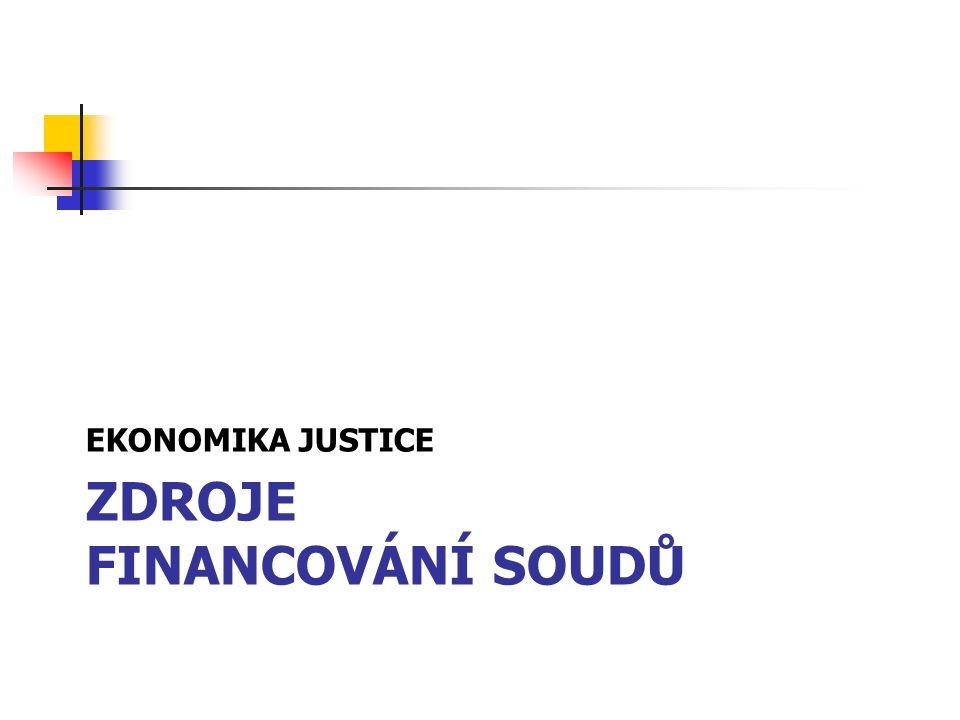 ZDROJE FINANCOVÁNÍ SOUDŮ EKONOMIKA JUSTICE