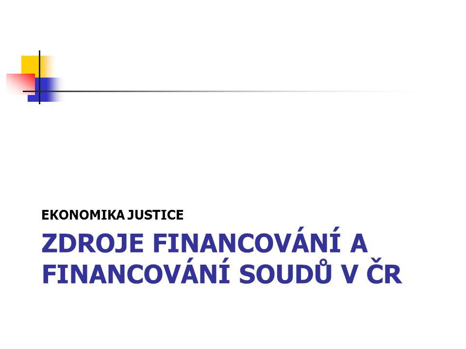 ZDROJE FINANCOVÁNÍ A FINANCOVÁNÍ SOUDŮ V ČR EKONOMIKA JUSTICE
