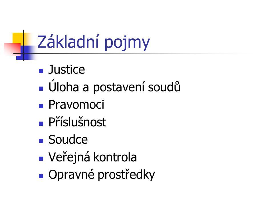 Soudní soustava - struktura