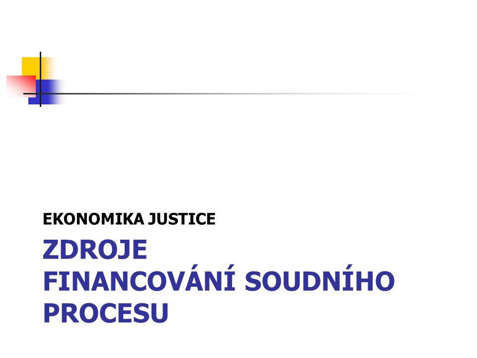 ZDROJE FINANCOVÁNÍ SOUDNÍHO PROCESU EKONOMIKA JUSTICE