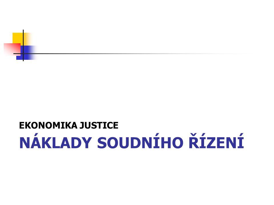 NÁKLADY SOUDNÍHO ŘÍZENÍ EKONOMIKA JUSTICE