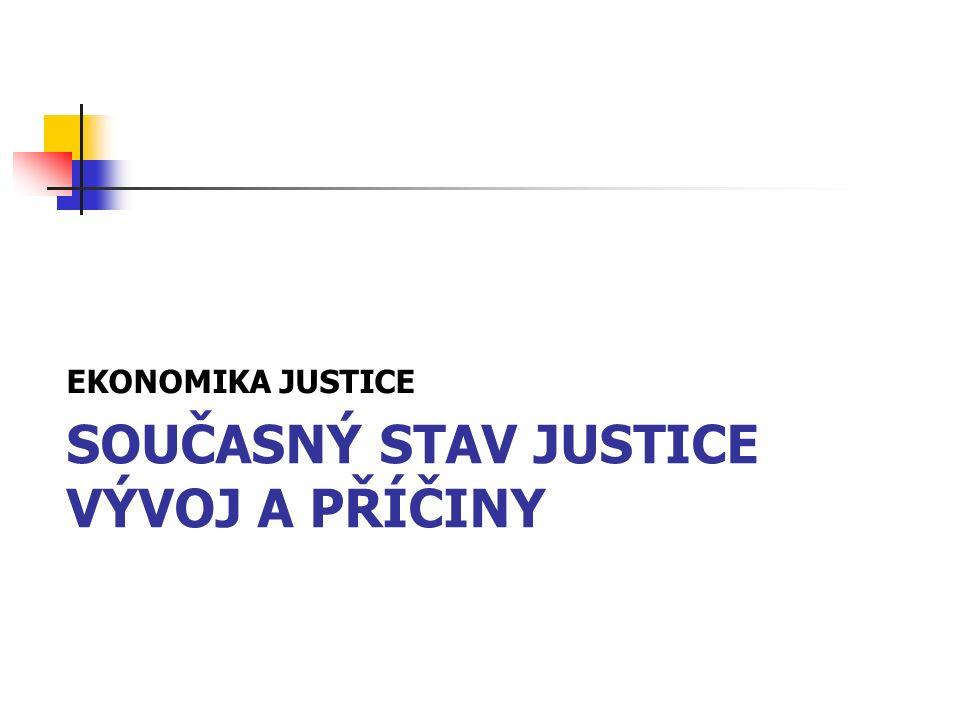 SOUČASNÝ STAV JUSTICE VÝVOJ A PŘÍČINY EKONOMIKA JUSTICE