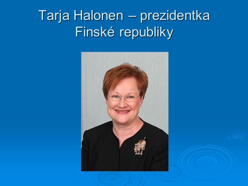 Tarja Halonen – prezidentka Finské republiky