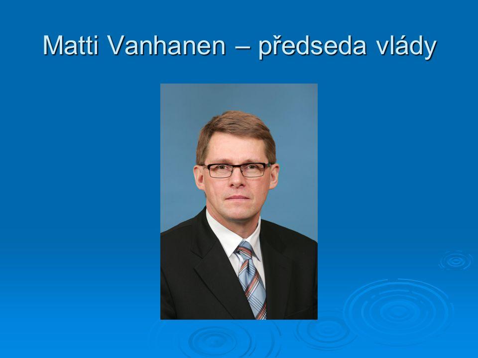 Matti Vanhanen – předseda vlády