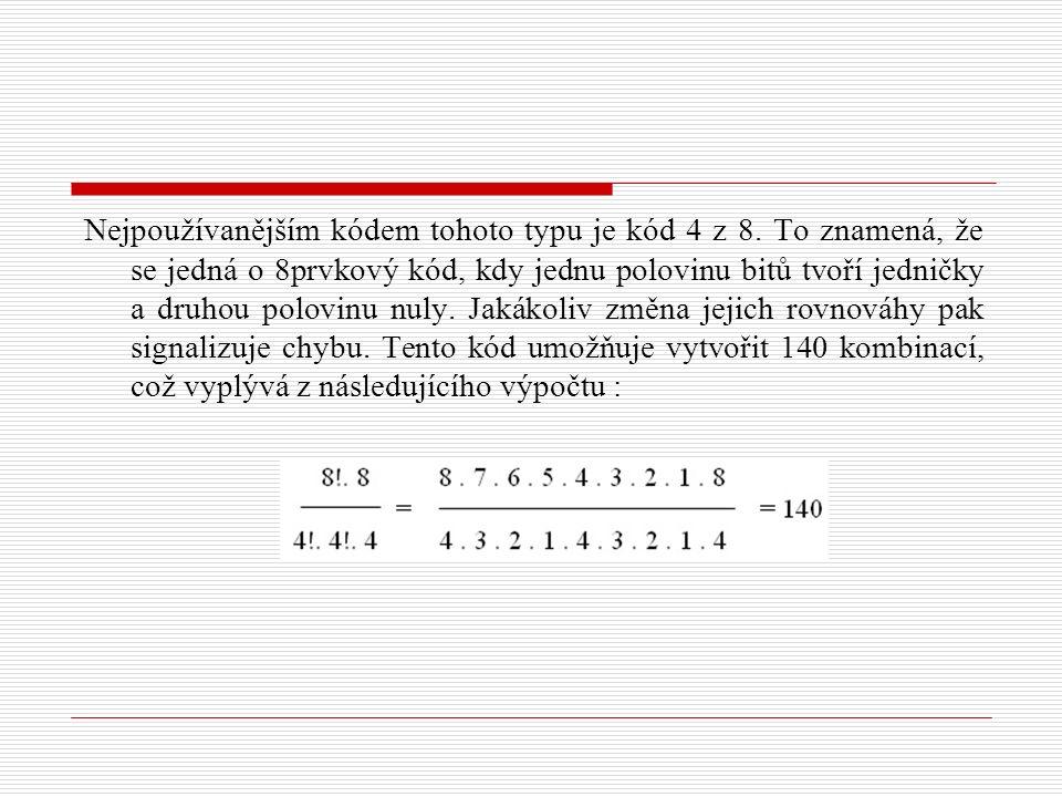 Nejpoužívanějším kódem tohoto typu je kód 4 z 8.
