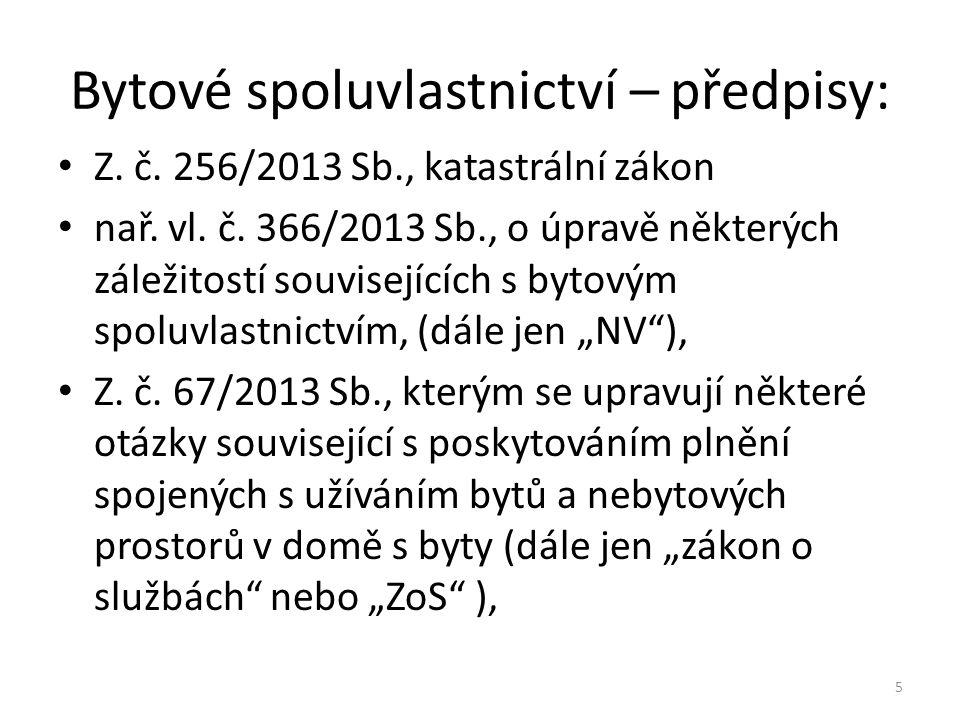 Bytové spoluvlastnictví – předpisy: nařízení vlády č.