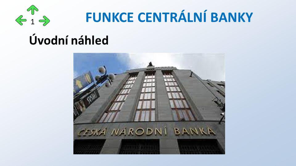 Úvodní náhled FUNKCE CENTRÁLNÍ BANKY 1