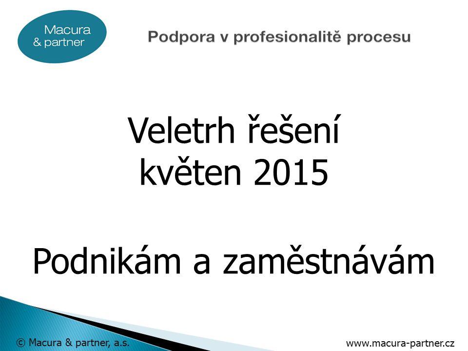 www.macura-partner.cz © Macura & partner, a.s. Veletrh řešení květen 2015 Podnikám a zaměstnávám