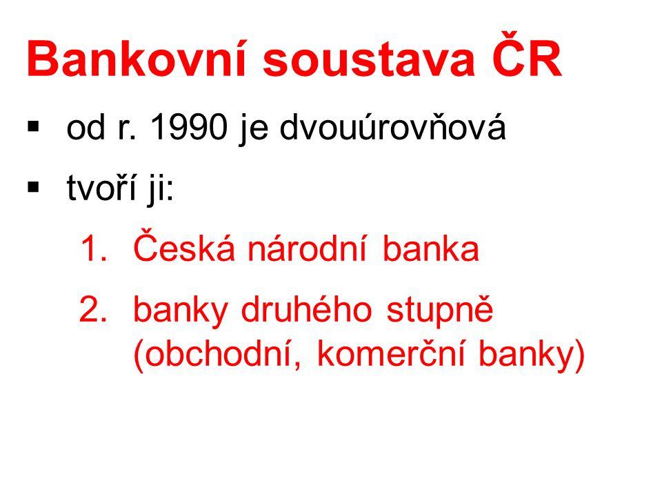 Bankovní soustava ČR  od r.
