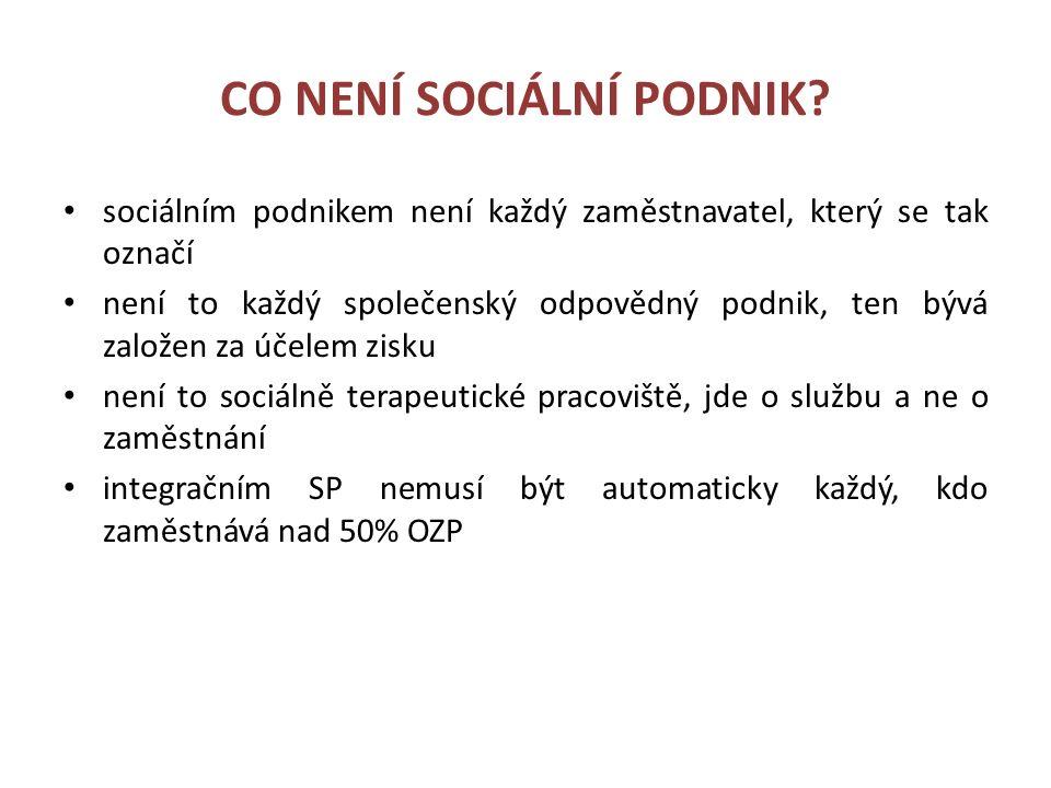 CO NENÍ SOCIÁLNÍ PODNIK.