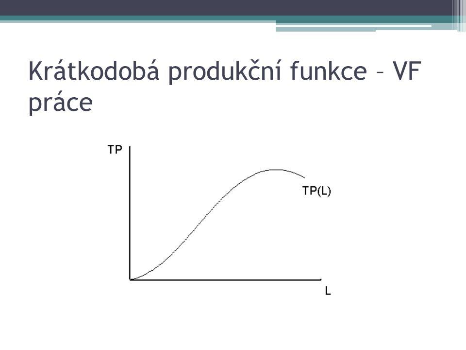 Krátkodobá produkční funkce – VF práce