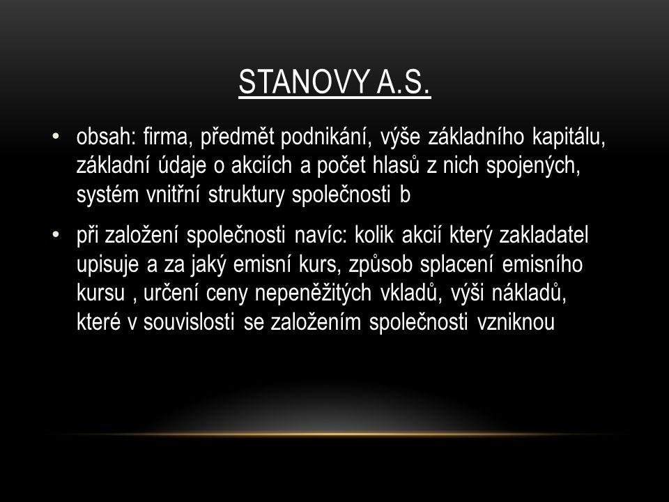 STANOVY A.S.