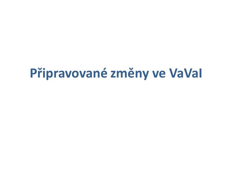 Připravované změny ve VaVaI