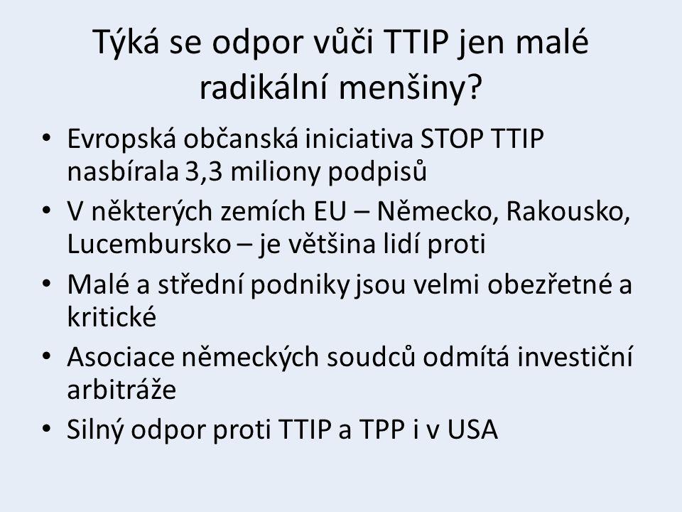 Týká se odpor vůči TTIP jen malé radikální menšiny? Evropská občanská iniciativa STOP TTIP nasbírala 3,3 miliony podpisů V některých zemích EU – Němec