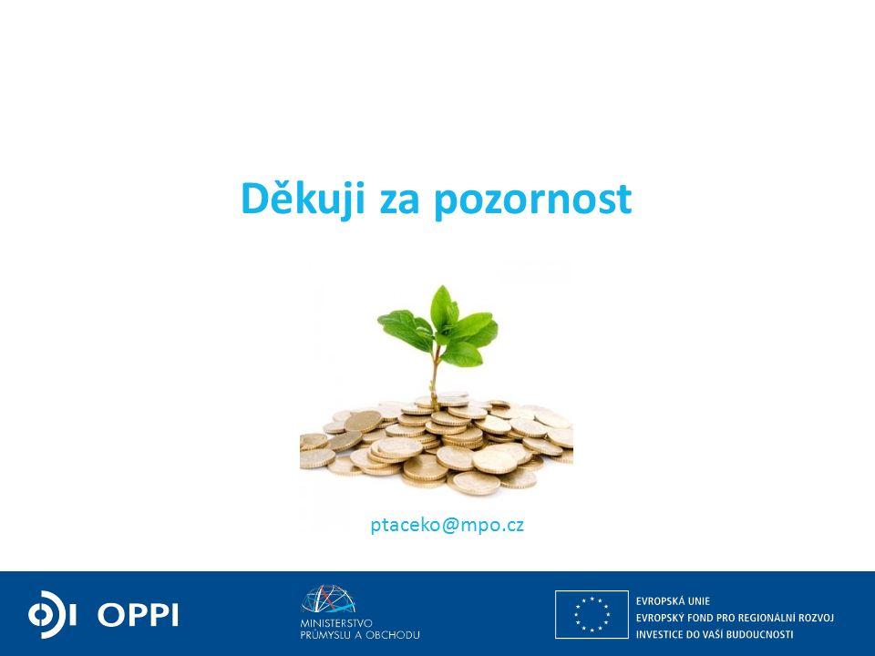 Děkuji za pozornost ptaceko@mpo.cz