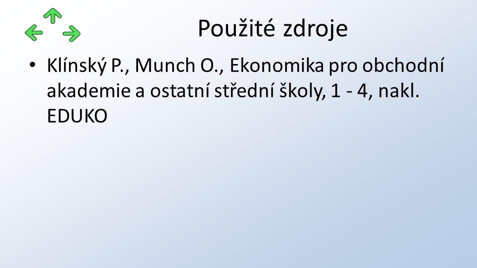 Klínský P., Munch O., Ekonomika pro obchodní akademie a ostatní střední školy, 1 - 4, nakl.
