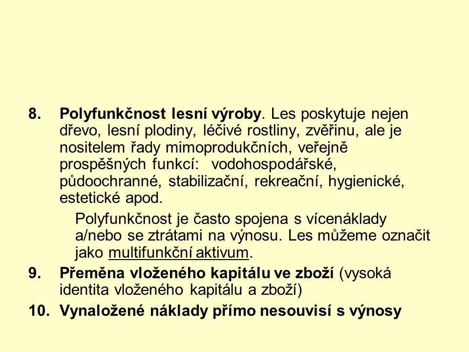 8.Polyfunkčnost lesní výroby.