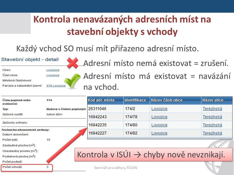Praha 19. 5. 2015 Kontrola nenavázaných adresních míst na stavební objekty s vchody Praha 27.