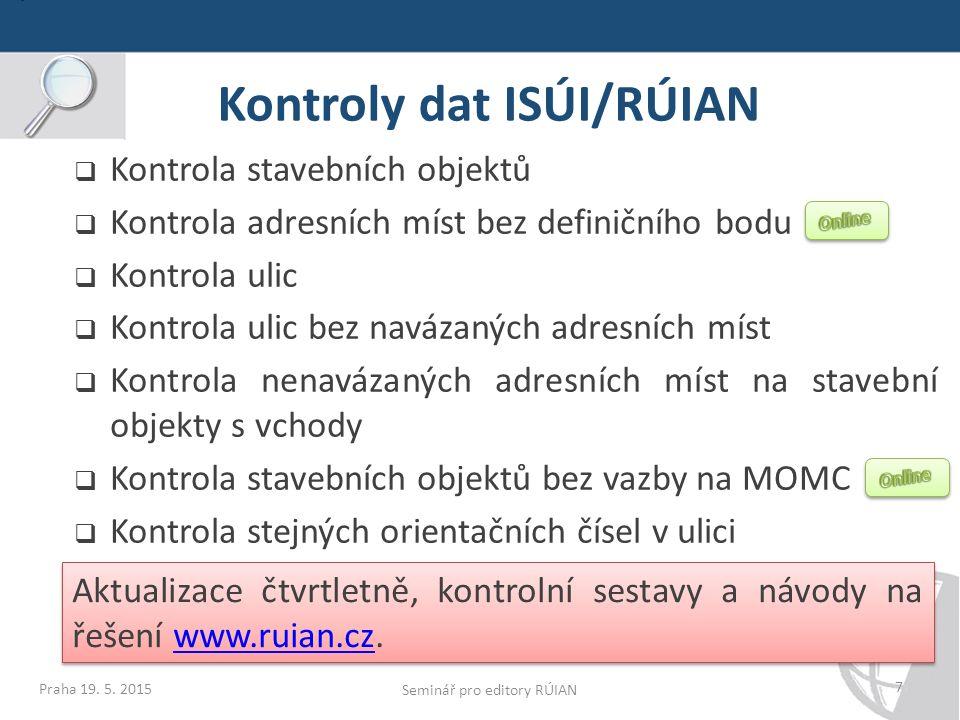 Kontrola ulic Praha 19.5.