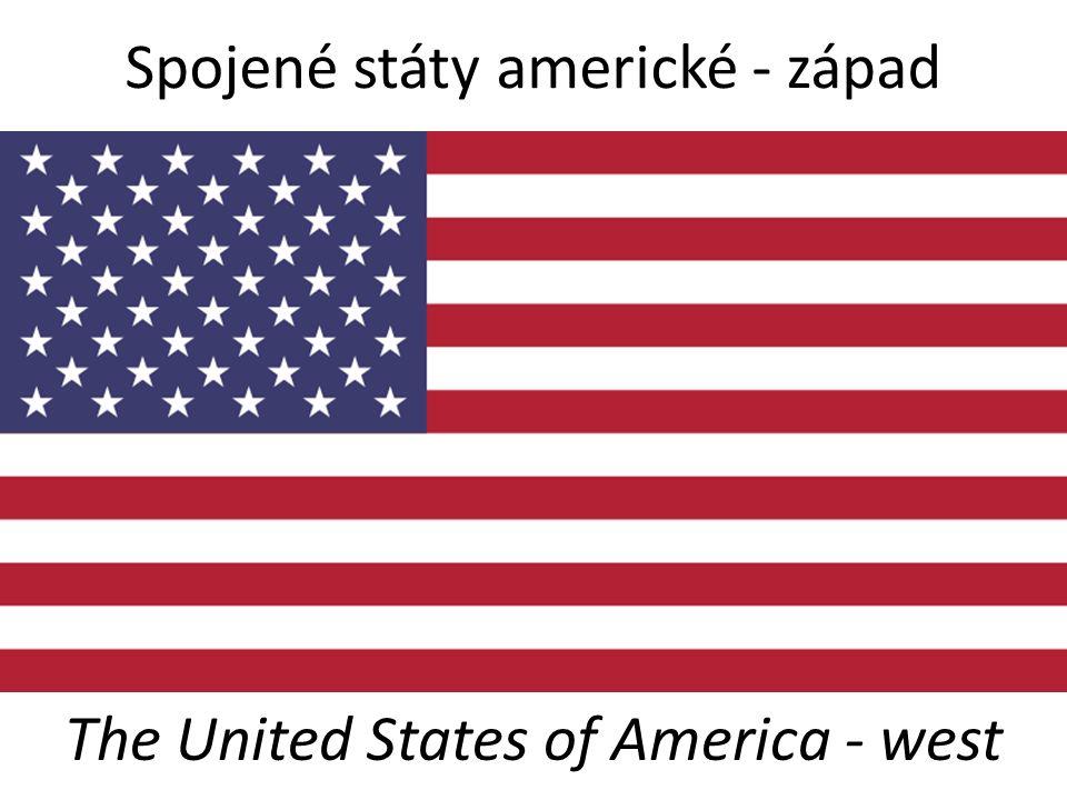 Spojené státy americké - západ The United States of America - west