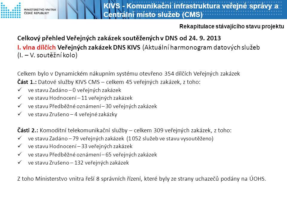 Celkový přehled Veřejných zakázek soutěžených v DNS od 24.