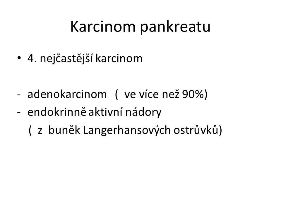 Karcinom pankreatu 4.