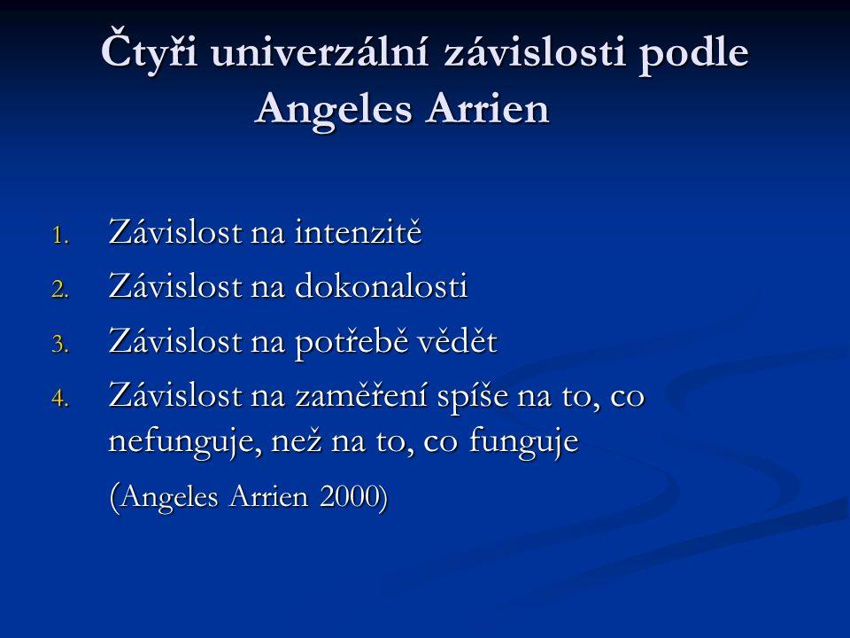 Čtyři univerzální závislosti podle Angeles Arrien 1.
