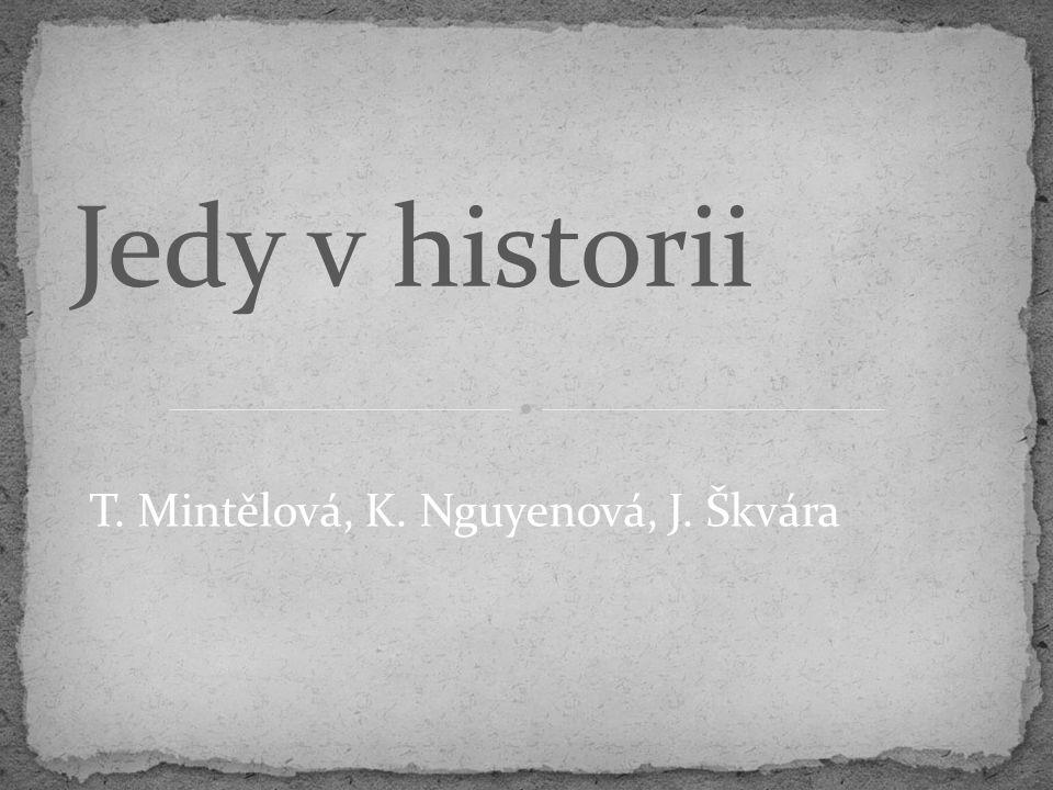 T. Mintělová, K. Nguyenová, J. Škvára Jedy v historii