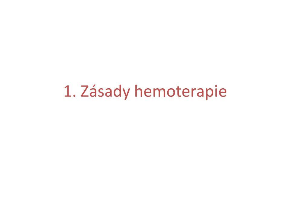 Obecné zásady hemoterapie Hemoterapie představuje léčbu transfuzními přípravky a krevními deriváty.