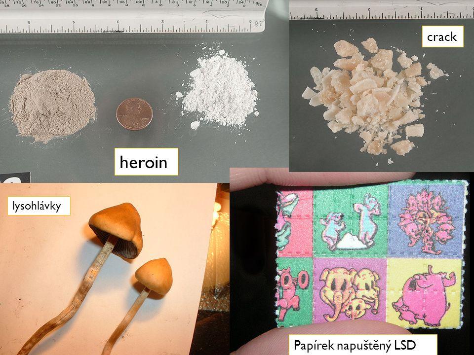 heroin Papírek napuštěný LSD crack lysohlávky