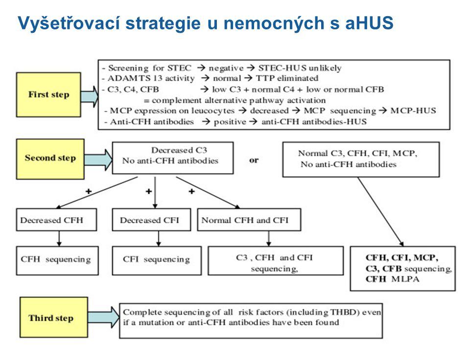 Vyšetřovací strategie u nemocných s aHUS