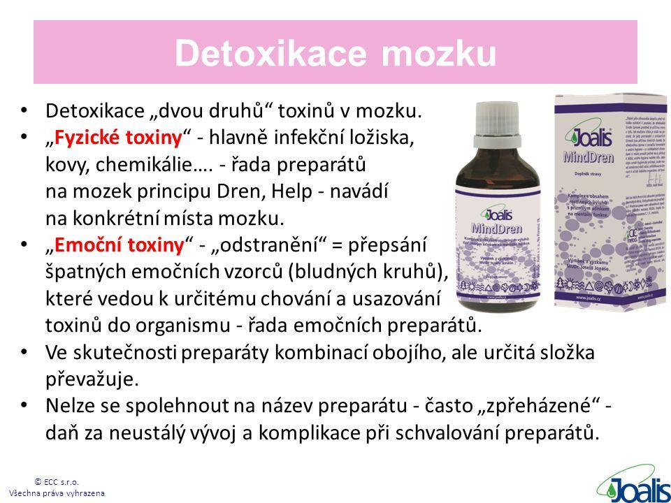 """Detoxikace mozku Detoxikace """"dvou druhů toxinů v mozku."""