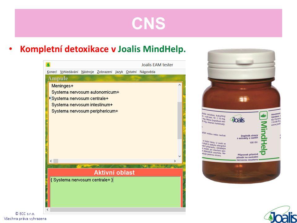 CNS Kompletní detoxikace v Joalis MindHelp. © ECC s.r.o. Všechna práva vyhrazena