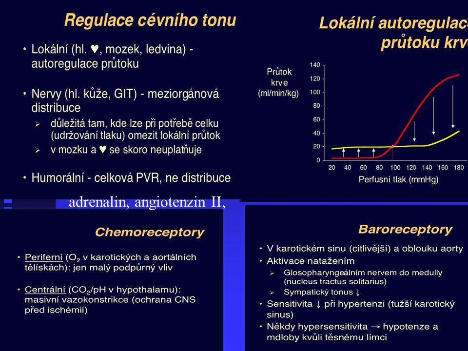 adrenalin, angiotenzin II,