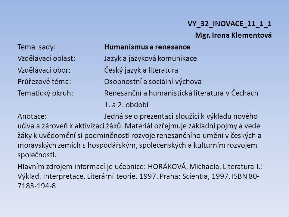VY_32_INOVACE_11_1_1 Mgr.