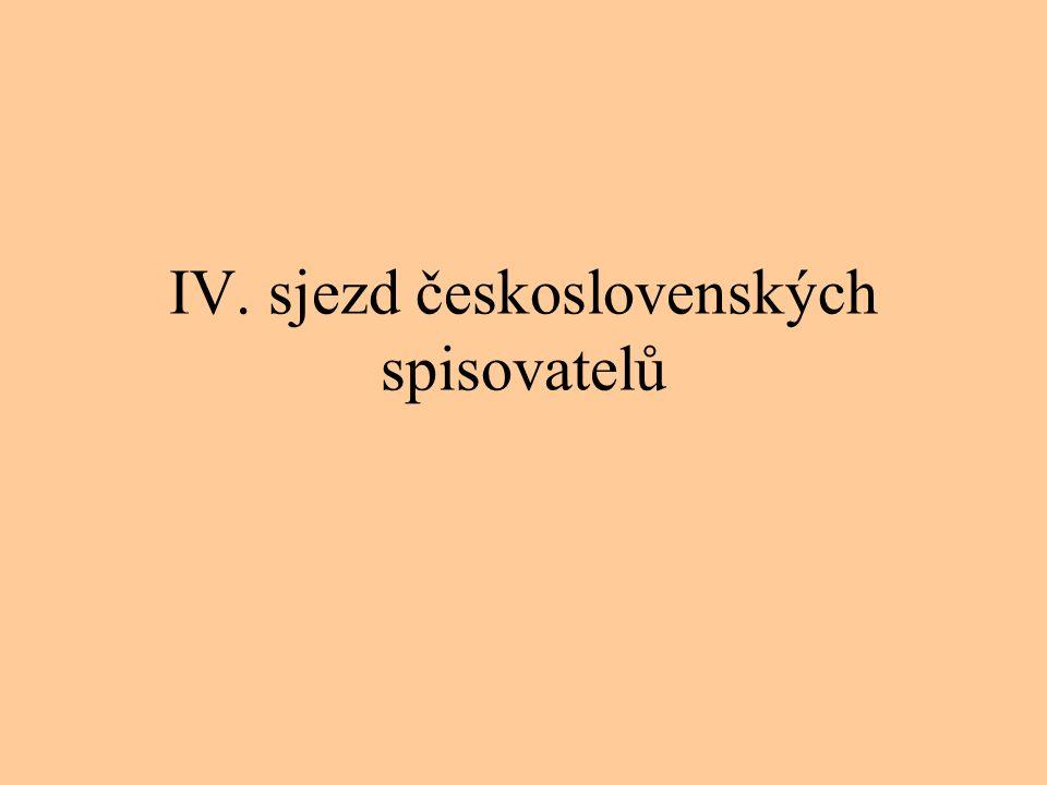 IV. sjezd československých spisovatelů