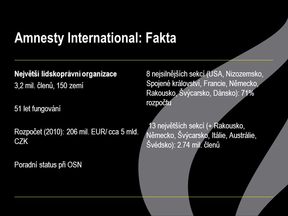 Úspěch Amnesty International?