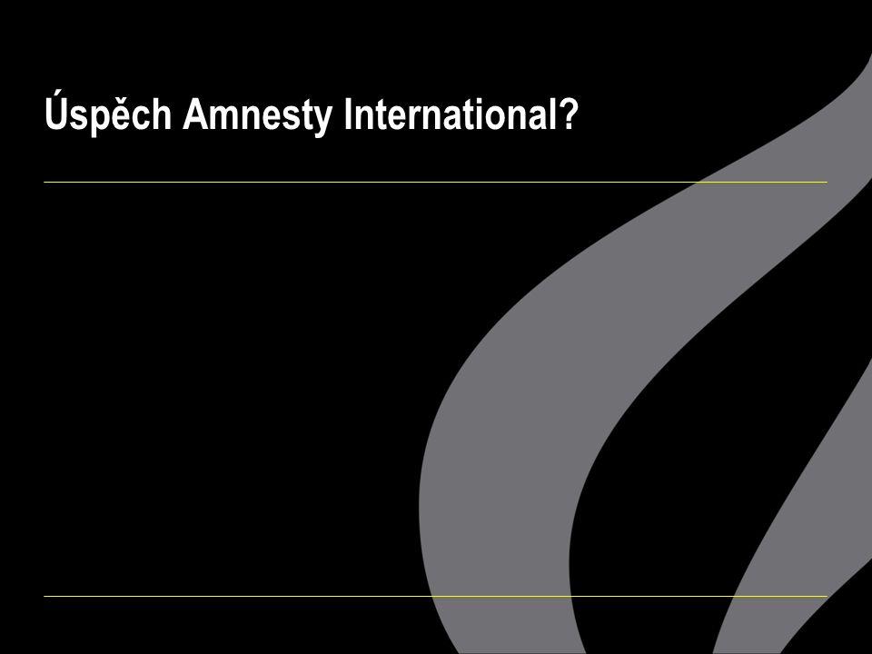 Úspěch Amnesty International?