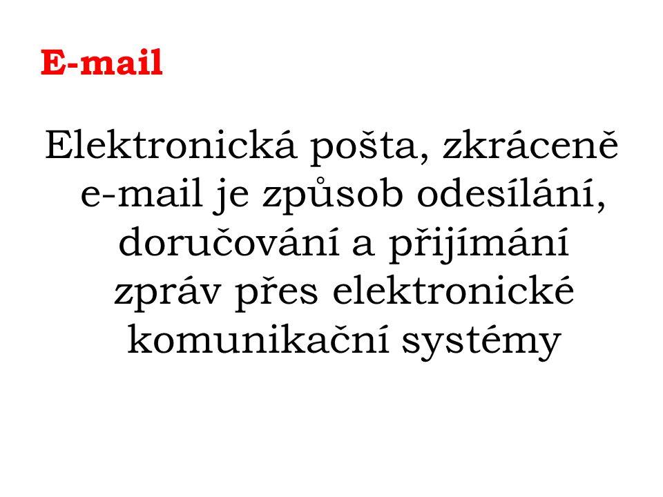 E-mail – nevyžádané zprávy Spam a hoaxy Velkým problémem se naopak stává nevyžádaná obtěžující pošta zvaná spam (týká se především různých služeb, inzerátů, formulářů, atd.), kvůli kterému je vhodné být opatrný při zveřejňování e-mailové adresy na internetu.
