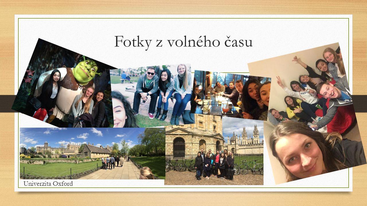 Fotky z volného času Univerzita Oxford