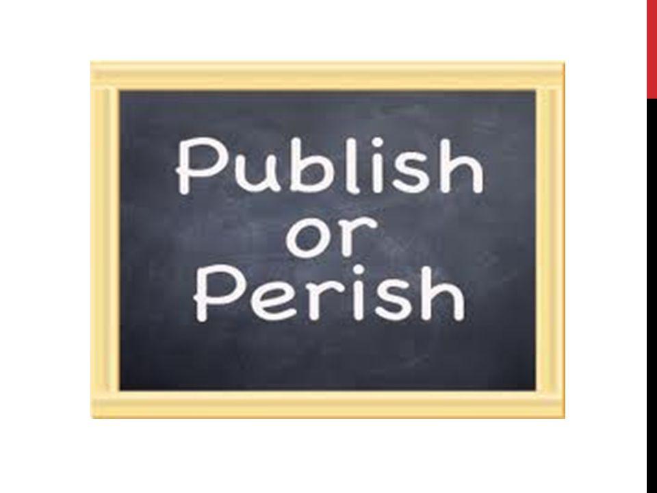 PUBLIKOVÁNÍ… = základní činnost akademických pracovníků a studentů